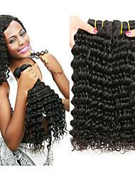hesapli -6 Demetleri Hintli Saçı Derin Dalga İşlenmemiş Gerçek Saç İnsan saç örgüleri Paketi Saç Gerçek Saç Postişleri 8-28 inç Doğal Renk İnsan saç örgüleri Yumuşak En iyi kalite Büyük indirim İnsan Sa