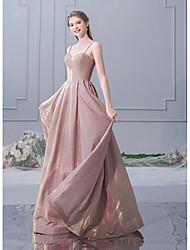 tanie -Krój A Cienkie ramiączka Sięgająca podłoża Z cekinami Sukienka dla druhny z Cekin przez LAN TING Express