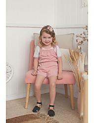 povoljno -Dijete Djevojčice Boho / Ulični šik Jednobojni / Print Vezanje straga / Print / Osnovni Bez rukávů Pamuk Jednodijelno Blushing Pink