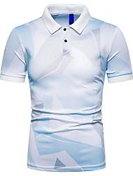 voordelige -Heren T-shirt Kleurenblok blauw XL