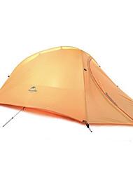 Недорогие -Naturehike 1 человек Туристические палатки На открытом воздухе С защитой от ветра Дожденепроницаемый Быстровысыхающий Двухслойные зонты Карниза Сферическая Палатка 2000-3000 mm для Отдых и Туризм