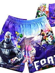 ราคาถูก -กางเกง ชุดว่ายน้ำชุดคอสเพลย์ Soldier / Warrior สำหรับเด็ก คอสเพลย์และคอสตูม คอสเพลย์ วันฮาโลวีน สีม่วง การ์ตูน Printing Polyster เด็กผู้ชาย วันคริสต์มาส วันฮาโลวีน เทศกาลคานาวาล / ความยืดหยุ่นสูง