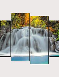hesapli -Boyama Haddelenmiş Kanvas Tablolar - Kumsal Teması Manzara Klasik Modern Dört Panelli