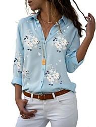economico -Camicia Per donna Fantasia floreale Bianco XXXL