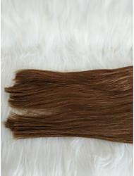 halpa -Letitetty Suora Pidentäjä Aidot hiukset 1 Kappale punokset Ruskea 18 inch 18 tuumaa Party / extention Festivaali Mongolialainen