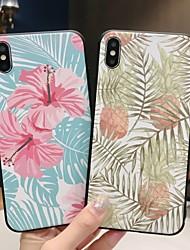 abordables -Coque Pour Apple iPhone XR / iPhone XS Max Dépoli / Motif Coque Arbre / Fleur Flexible TPU pour iPhone XS / iPhone XR / iPhone XS Max
