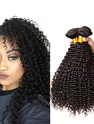 cheap -6 Bundles Brazilian Hair Kinky Curly Remy Human Hair Natural Color Hair Weaves / Hair Bulk Bundle Hair One Pack Solution 8-28 inch Natural Color Human Hair Weaves Fashionable Design Soft Thick Human