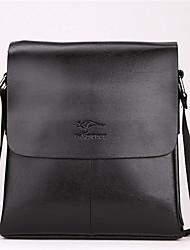 お買い得  -男性用 バッグ PU クロスボディーバッグ 純色 ブラック / Brown