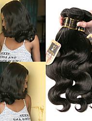 olcso -3 csomag Brazil haj Hullámos haj 100% Remy hajszövési csomó Az emberi haj sző Bundle Hair Egy Pack Solution 8-28 hüvelyk Természetes szín Emberi haj sző Sexy Lady Legjobb minőség Hot eladó Human Hair
