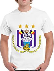お買い得  -男性用 Tシャツ 幾何学模様 ホワイト XL