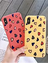 cheap -Case For Apple iPhone X / iPhone XS Max Frosted / Pattern Back Cover Heart Soft Silica Gel for iPhone XS / iPhone XR / iPhone XS Max
