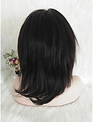 cheap -Human Hair Full Lace Wig Free Part style Malaysian Hair Natural Straight Black Wig 130% Density Women Natural Natural Hairline Black Women's Short Others