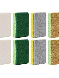 billiga -Kök Städtillbehör Nylon mikrofiber Sponge polyesterfiber Svamp Ny Design Skydd Verktyg 8pcs