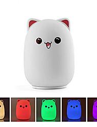 Недорогие -милый кот светодиодный детский ночной свет для детей прикроватная лампа для кормления грудью безопасный мягкий силикон для ухода за глазами ребенка светодиодный контроль крана usb rechargeable6