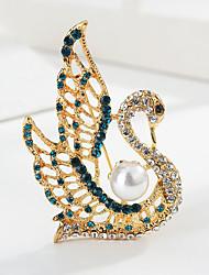 povoljno -Žene Klasičan Broševi Labud Sa životinjama Crtići slatko Moda folk stil Broš Jewelry Zlato Za diplomiranje Dar Dnevno Karneval Festival