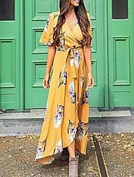 baratos -Mulheres Elegante balanço Vestido Floral Longo