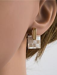 cheap -Women's Multicolor Geometrical Stud Earrings Clip on Earring Shell Silver Earrings European Jewelry Gold / Light Gold For Daily 1 Pair