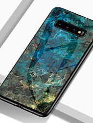 Недорогие -Кейс для Назначение SSamsung Galaxy S9 / S9 Plus / S8 Plus Защита от удара / С узором Кейс на заднюю панель Мрамор Твердый ТПУ / Закаленное стекло