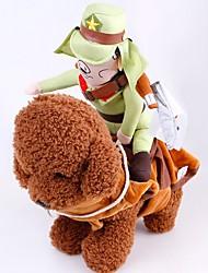 hesapli -Köpekler Kediler Kostümler Köpek Giyimi Solid Yeşil Pamuk Kostüm Uyumluluk Beagle Bulldog Shiba Inu Sonbahar Kış Unisex Japan and Korea Style Cosplay