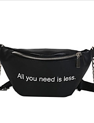 저렴한 -여성용 가방 캔버스 슬링 어깨 가방 지퍼 용 일상 봄 화이트 / 블랙