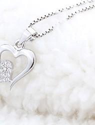 preiswerte -Damen Klar Halskette Blume Künstlerisch lieblich Silber 30 cm Modische Halsketten Schmuck 1pc Für Alltag