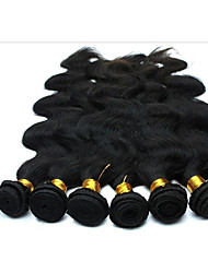 cheap -6 Bundles Brazilian Hair Body Wave 100% Remy Hair Weave Bundles Natural Color Hair Weaves / Hair Bulk Bundle Hair One Pack Solution 8-28 inch Natural Color Human Hair Weaves Soft Best Quality Thick