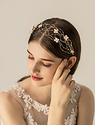 cheap -Alloy Headbands / Headdress / Hair Accessory with Floral 1 pc Wedding / Party / Evening Headpiece