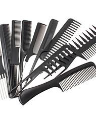 Недорогие -Расческа для укладки волос 10 шт. Набор профессиональных черных парикмахеров