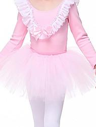 ราคาถูก -ชุดเต้นสำหรับเด็ก / ชุดเต้นบัลเล่ย์ Tutus & Skirts เด็กผู้หญิง การฝึกอบรม / Performance ชุดชั้นในแบบChinlon ลูกไม้ ธรรมชาติ Tutus