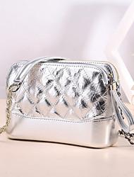 Недорогие -женские сумки наппа кожаная сумка через плечо молния румяна розовый / белый / черный
