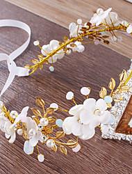 Χαμηλού Κόστους -Κράμα Τεμάχια Κεφαλής με Απομίμηση Πέρλας / Διακοσμητικά Επιράμματα / Λουλούδι 1 Τεμάχιο Γάμου / Πάρτι / Βράδυ Headpiece