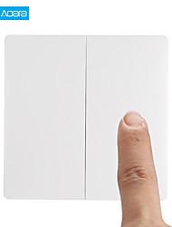hesapli -Aqara yükseltme kablosuz anahtarı çift düğme anahtar akıllı ışık kontrol mi ev app gateway ve homekit için zigbee versiyonu