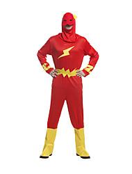 preiswerte -Superheld Cosplay Kostüme Erwachsene Herrn Cosplay Halloween Halloween Karneval Maskerade Fest / Feiertage Polyester Rote Karneval Kostüme Einfarbig