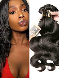 olcso -3 csomag Indiai haj Hullámos haj 100% Remy hajszövési csomó Az emberi haj sző Bundle Hair Egy Pack Solution 8-28 hüvelyk Természetes szín Emberi haj sző Puha Legjobb minőség Hot eladó Human Hair