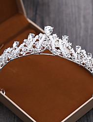 رخيصةأون -سبيكة تيجان مع لؤلؤ اصطناعي 1 قطعة زفاف / عيد ميلاد خوذة