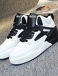 ราคาถูก -สำหรับผู้หญิง รองเท้าเต้นรำฮิปฮอปและสตรีท PU รองเท้าผ้าใบ ส้นแบน รองเท้าเต้นรำ ขาว / สีดำ / สีชมพู