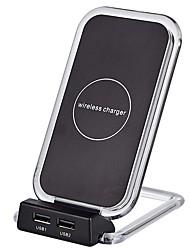 Недорогие -Bakeey Qi быстрое беспроводное автомобильное зарядное устройство с 2 usb для iphone x 10 8 8 плюс Samsung S8 и более