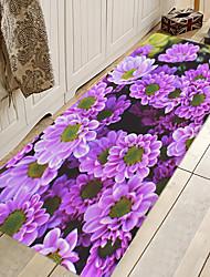 hesapli -1pc Günlük / Ülke Banyo Paspasları Mercan velvi Çiçek Desenli 5mm Kaymaz / Sevimli / kalınlaşma
