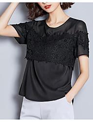 levne -Dámské - Geometrický Košile, Tisk