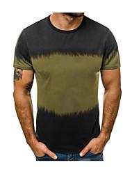 cheap -Men's T-shirt - Color Block Green XL