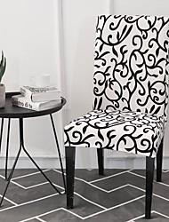 preiswerte -Stuhlabdeckung Zeitgenössisch Bedruckt Polyester Überzüge
