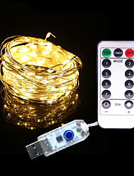 preiswerte -5m lichterkette 50 leds 1 13keys fernbedienung warmweiß rgb weiß wasserdicht neue solar design usb powered 1 set