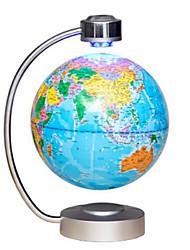 Недорогие -Новинка 8 дюймов электронная магнитная левитация плавающая карта мира английский земной шар светодиодная вилка питания украшения дома