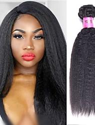 Недорогие -6 Связок Бразильские волосы Естественные прямые Не подвергавшиеся окрашиванию человеческие волосы Remy Человека ткет Волосы Пучок волос One Pack Solution 8-28 дюймовый Естественный цвет