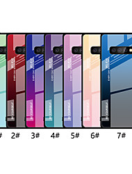 cheap -Case For Samsung Galaxy Galaxy S10 Plus / Galaxy S10 E Ultra-thin Back Cover Color Gradient Hard Tempered Glass for S9 / S9 Plus / S8 Plus