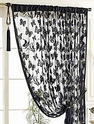 Недорогие -Современный Semi-Sheer 1 панель Занавес Спальня   Curtains