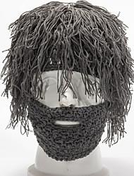 Недорогие -Универсальные Для вечеринки Активный Широкополая шляпа Акрил,Однотонный Осень Зима Коричневый Черный Серый