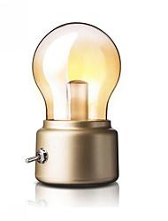 billige -1pc LED Night Light Varm hvit Usb Kreativ / Enkel å bære / Med USB-port 5 V