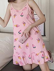 رخيصةأون -نسائي لانجري شفاف تيدي ملابس نوم طباعة, هندسي / فاكهة