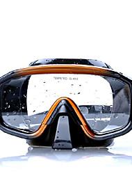 Недорогие -Дайвинг Маски подводный Два окна - Плавание Силикон - Назначение Взрослые Черный / Противо-туманное покрытие / Сухая трубка